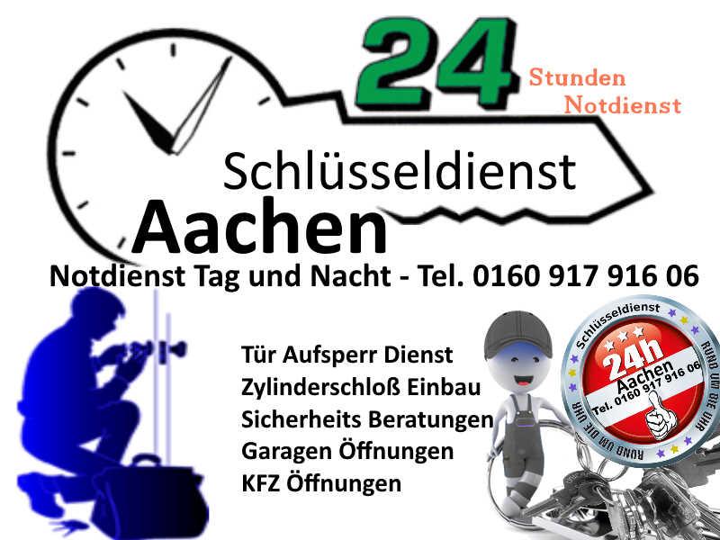 Schlüsseldienst Aachen mit 50 Euro Festpreis Tag und Nacht