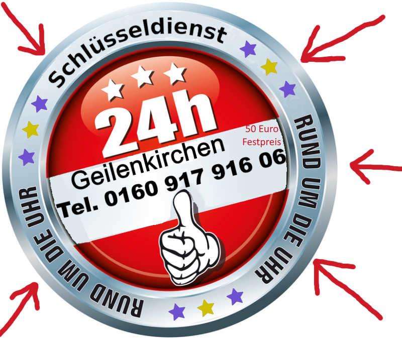 Schlüsseldienst Frelenberg Geilenkirchen mit 50 Euro Festpreis Tag und Nacht erreichbar Telefon 0160 917 916 06