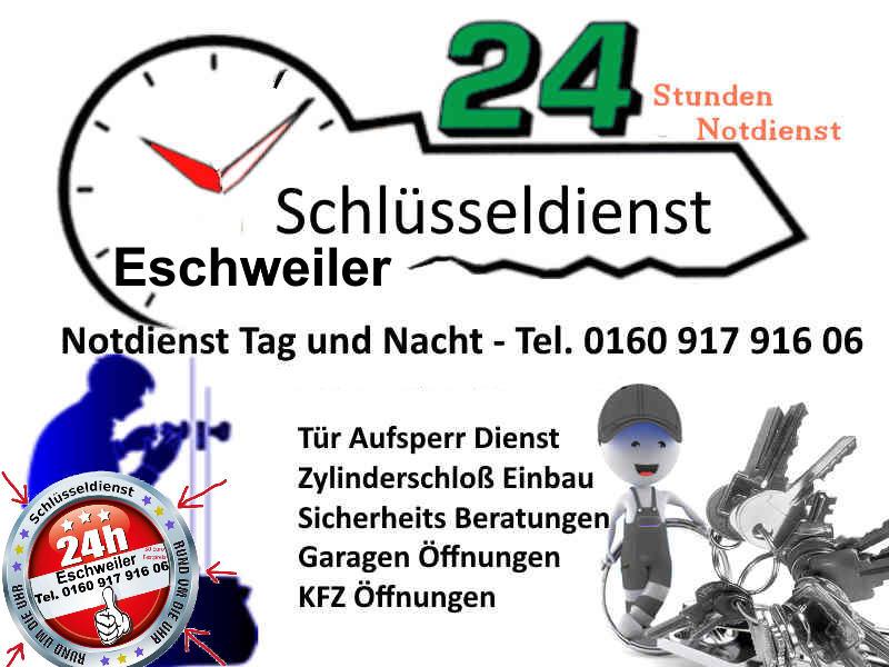 Schlüsseldienst Weisweiler mit 50 Euro Eschweiler Festpreis