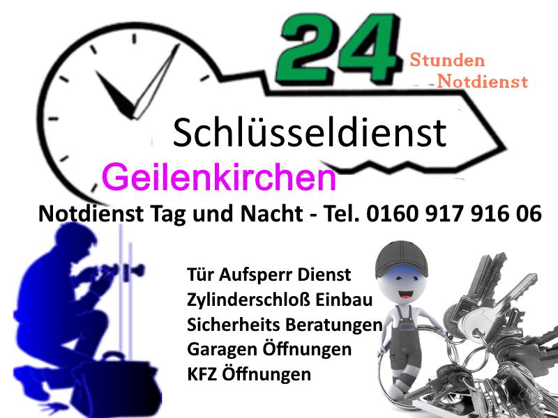 Schlüsseldienst Geilenkirchen Übach Palenberg Teveren Niederheid und Frelenberg